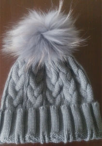 Natural Fur Hat Natural Fur Collar Es1503-32 pictures & photos