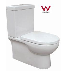 Australian Standard Watermark Bathroom Washdown Two-Piece Ceramic W Toilet (HZX-99) pictures & photos