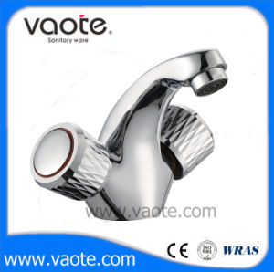 Double Handle Brass Body Basin Mixer (VT60303) pictures & photos