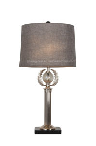 Phine Pd-1961 Metal Desk Lamp with Crystal Ball and Fabric Shade pictures & photos