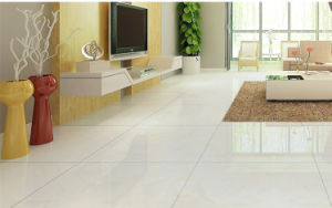 White Double Loading Polished Porcelain Tile pictures & photos