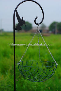 Green Color Steel Hanging Basket for Flower pictures & photos