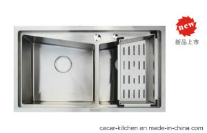 Cacar High Quality Hand-Made Water Groove Kitchen Sink (SC8348A) pictures & photos