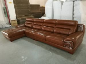 Living Room Furniture, Leather Furniture, Corner Sofa, Sectional Leather Sofa (615) pictures & photos