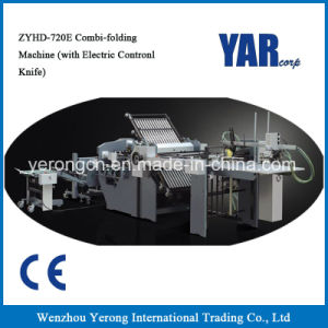 High Quality Zyhd720e Combi-Folding Machine with Electric Control Knife pictures & photos
