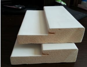 Customized Size Water -Base White Baseboard Moulding MDF Price pictures & photos