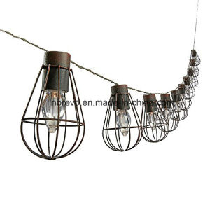 Outdoor Hanging LED Solar Powered Bulb Cage String Lights (RS1007) pictures & photos
