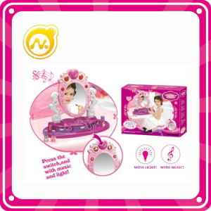 Girls Pretend Toy Plastic Dresser Table with Beaty Set Toy pictures & photos