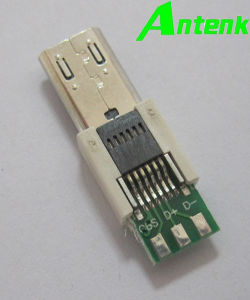 Micro USB 11p, PCB Application, Male Connector pictures & photos