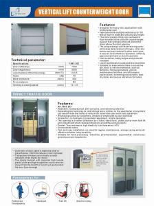 Heavy Duty Vertical Lifting Counterweight Industrial Door pictures & photos