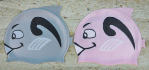 Silicone Swimming Cap for Kids Fish Shape pictures & photos