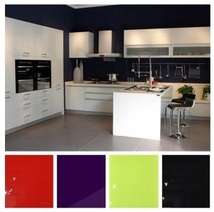 Glossy Lacqure L Shaper Kitchen Cabinets (zhuv) pictures & photos
