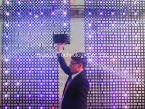 Outdoor Stage Background P50 Foldable LED Mesh LED Screen pictures & photos