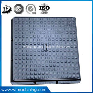 En124 A15 B125 C250 D400 Casting Wrought Iron Double Hinged Sealed Round Drain/Sewer Manhole Cover for Clearing Open 600mm pictures & photos