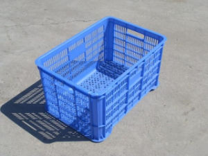 Fruit and Vegetable Meshed Plastic Crate pictures & photos