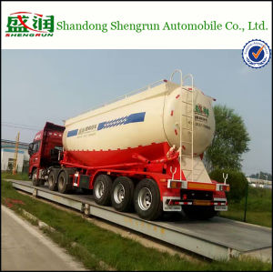 3 Axles 35cbm Cement Tankers with Air Compressor