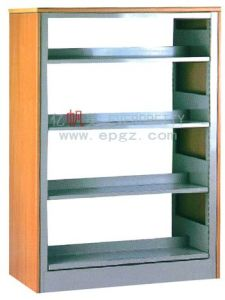 Steel Frame Double Side Library Bookshelf Furniture Dg-16 pictures & photos