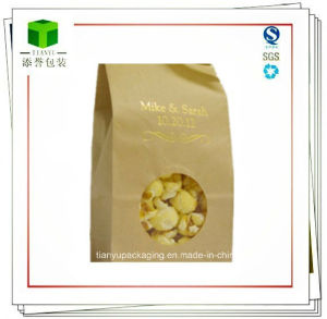 Square Bottom Cookies Kraft Paper Bags with Window pictures & photos