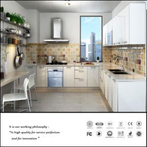 Zhuv Wood Grain Door Glossy Kitchen Cabinet (ZH-6055) pictures & photos