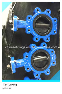 Lever Operated NBR Seat Casting Steel Lug Butterfly Valve pictures & photos