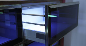 UV High Glossy Kitchen Furniture (ZX-037) pictures & photos