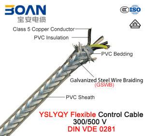 Yslyqy, Control Cable, 300/500 V, Flexible Cu/PVC/PVC/Gswb/PVC (DIN VDE 0281) pictures & photos