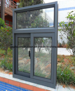 Thermal Break Aluminium Sliding Window with Double Glazing As2208 pictures & photos