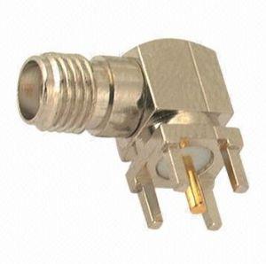 SMA Female Right Angle Crimp Type Connector for Rg58u