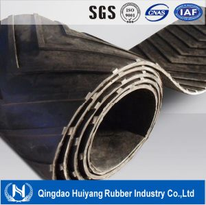 Chevron Pattern Rubber Cleated Conveyor Belt (EP, CC, NN) pictures & photos