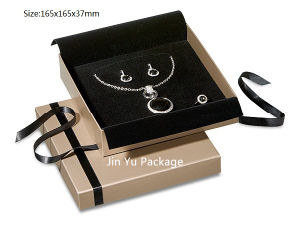 Gold Paper Jewelry Box/Ring Box/Earring Box/Pendant Box/Necklace Box pictures & photos