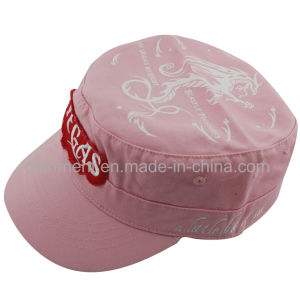 Raw Edge Patch Applique Embroidery Washed Military Cap (TRNM004) pictures & photos