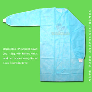Disposable PP Isolation Gown pictures & photos