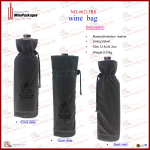 Good Quality Velvet Wine Pouch (6213R5) pictures & photos