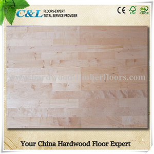 Natural Unfinished Maple Wood Flooring pictures & photos