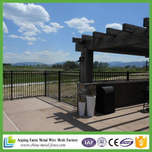 China Supplier Cheap High Quality Powder Coated Faux Wrought Iron Fence Panel pictures & photos