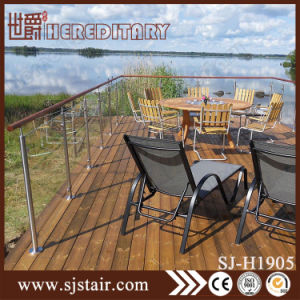 Foshan Wall Mounted Balcony Stainless Steel Balustrade with Glass (SJ-H1904) pictures & photos