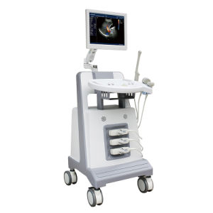 Hospital Equipment Trolley Color Doppler with Three Probe pictures & photos