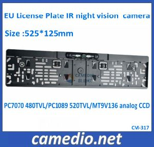 OEM HD Waterproof Color EU License Plate Frame Rear View Camera pictures & photos
