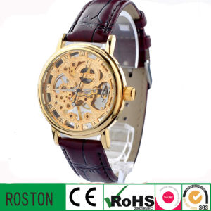 Water Proof Leather Strap Automatic Watch pictures & photos