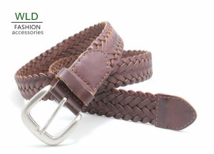 Fashion Basic Braided Genuine Top Leather Lady Belt Lky1169 pictures & photos