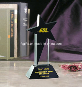 Black Crystal Star Trophy Produced in Manufacture (JB927)