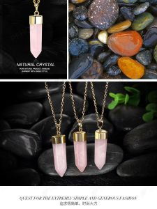 Natural Crystal Stone Tiger Eye Quartz Pendant Necklace pictures & photos