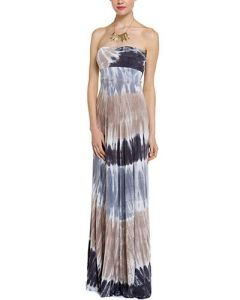 Ladies′ Tie Dye Strapless Maxi Dress Can Be Converted to a Skirt (DTD5)