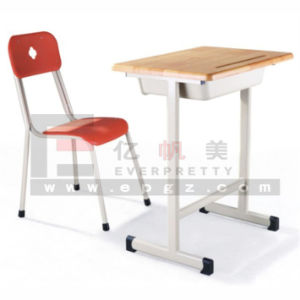 2015 Hot Sale Fixed Single Desk & Chair for High School Student pictures & photos