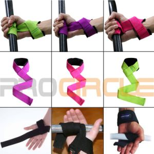 Wrist Support Polyester Adjustable Weight Lifting Straps (PC-WS1001) pictures & photos