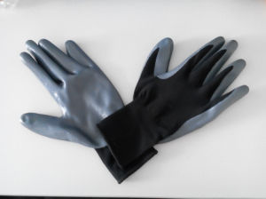 Polyester Shell Nitrile Coated Safety Work Gloves (N1501) pictures & photos