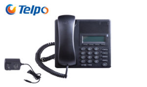 Popular 2 SIP Lines Fixed IP Phone for Hotel Guestroom pictures & photos
