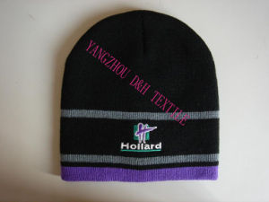 Promotion Knitted Beanie with Embroider pictures & photos