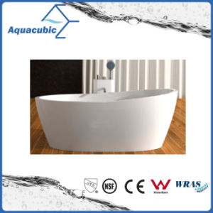 Bathroom Oval Free-Standing Acrylic Bathtub (AB1519W) pictures & photos