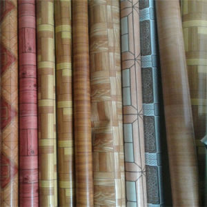 High Quality Wood Design PVC Flooring in Roll pictures & photos